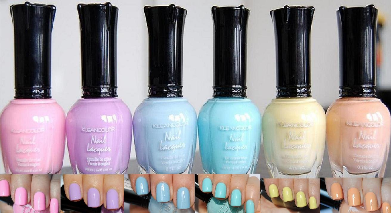 Amazon.com : Kleancolor Nail Lacquers 6 Color - *NEW* Pastel Spring ...