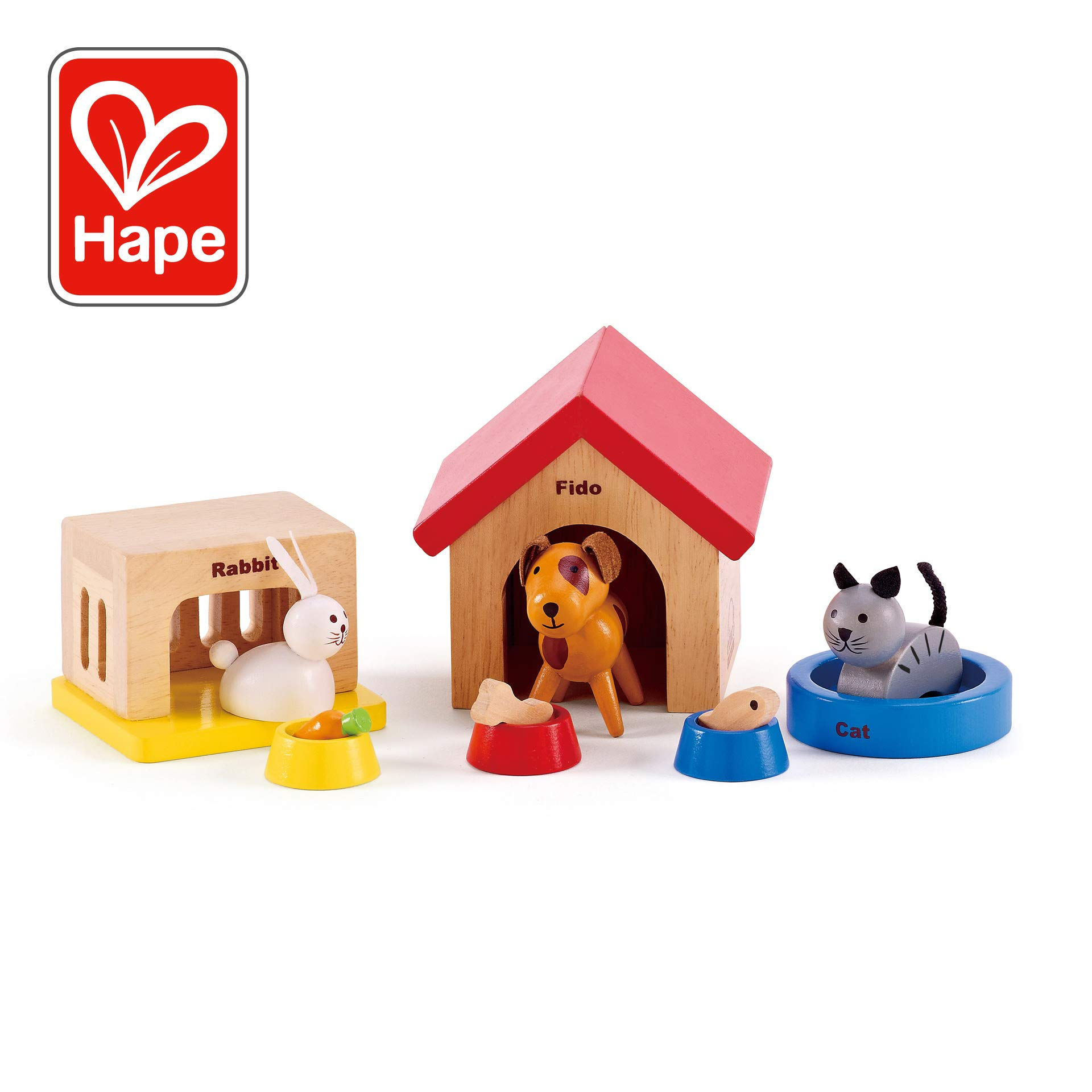 Hape Family Pets Wooden Doll House Animals by Hape