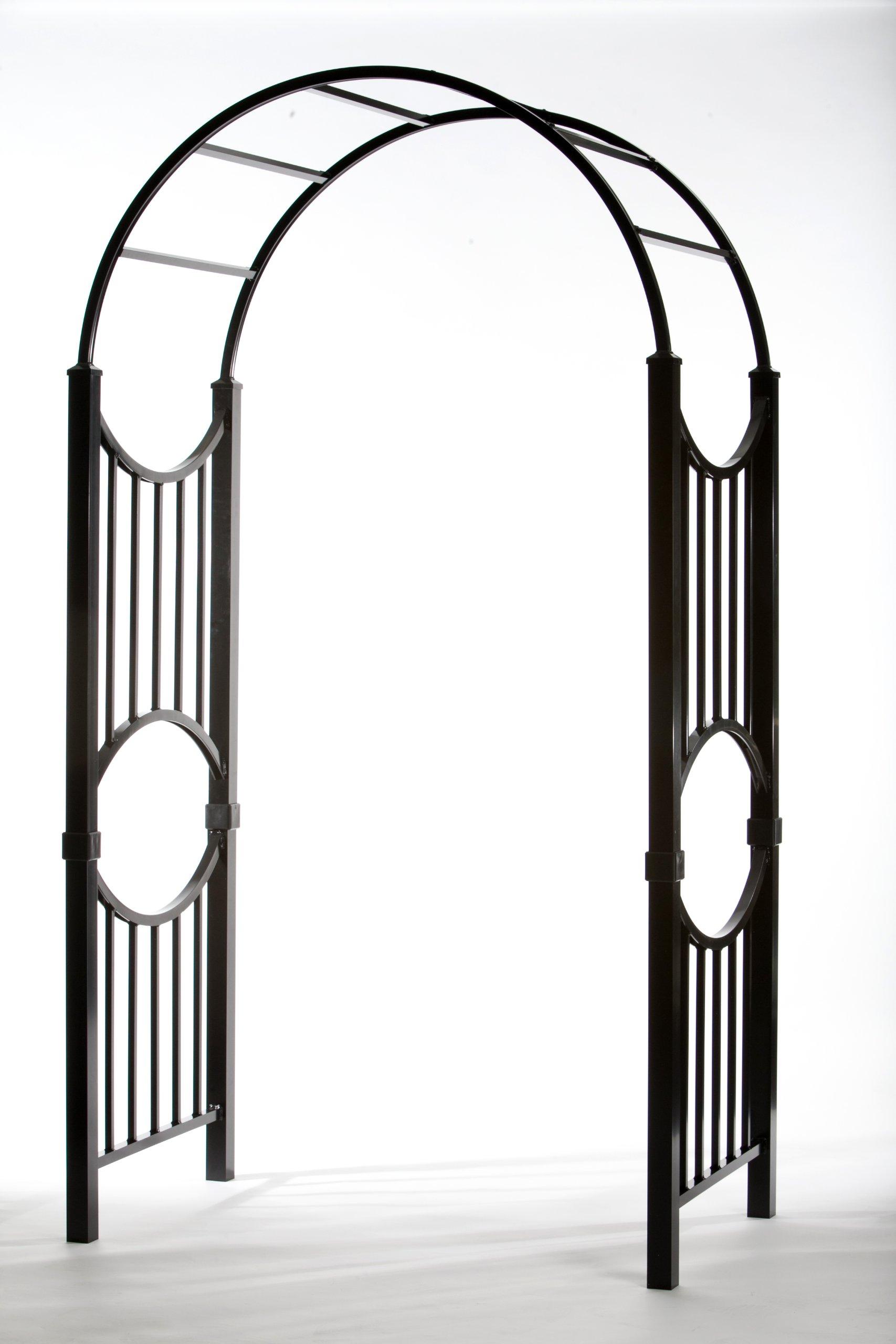 Specrail Manchester ARBORSPEC2BL Aluminum Garden Arbor Kit, 96 by 47 by 38-Inch, Black