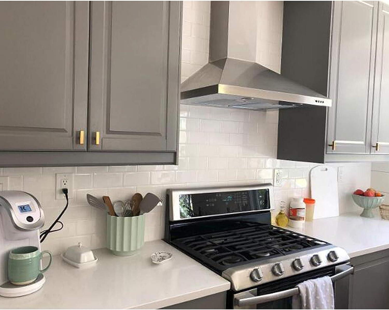 Hole Center: 192mm Probrico Poign/ée de placard de cuisine en acier inoxydable bross/é en laiton pour tiroir de chambre /à coucher Dor/é 1 Pack acier inoxydable