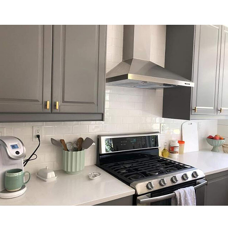 Probrico color dorado lat/ón cepillado Tiradores para armarios de cocina acero inoxidable Hole Center: 192mm 15 Pack acero inoxidable