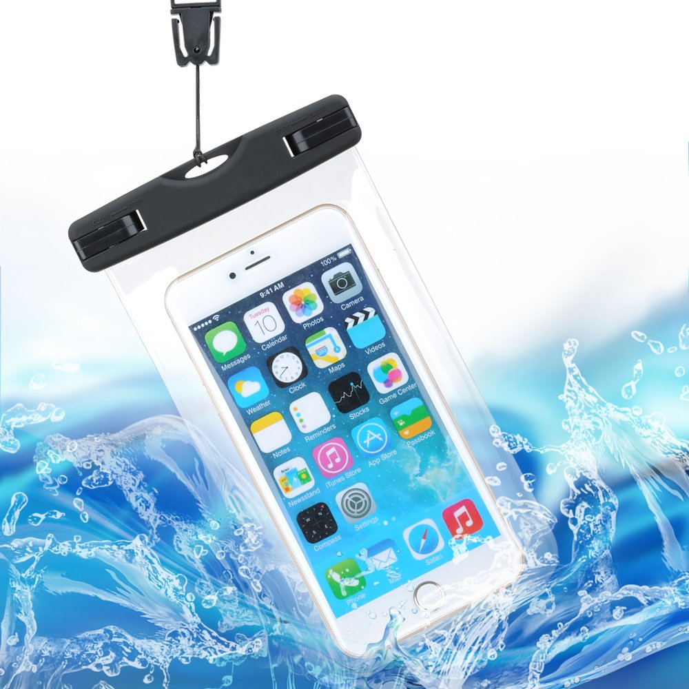 Ezyoutdoor Clear TPU Waterproof Mobile Phone Bag With Clip Phone Case Dry Bag Pouch with Strap For All Under 15cm Smartphone Random Colour B071KFCBD3