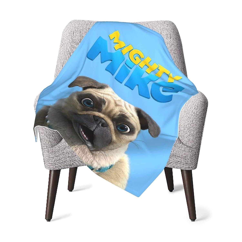 M-Ig-H-Ty Warm M-I-Ke Ultra Soft Baby Blanket Fleece Fabric Size 30x40in for Infant, Toddler, Newborn Nursery Swadding Blanket for Better Care,Black,One Size