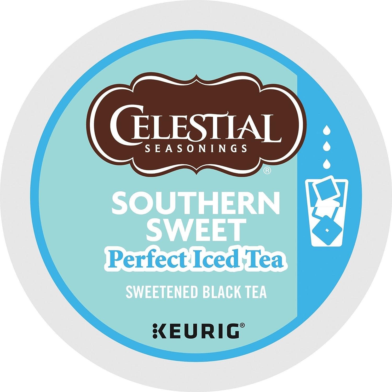 Keurig, Celestial Seasonings, Southern Sweet Perfect Iced Tea, K-Cup packs, 30 Count (Packaging may vary)