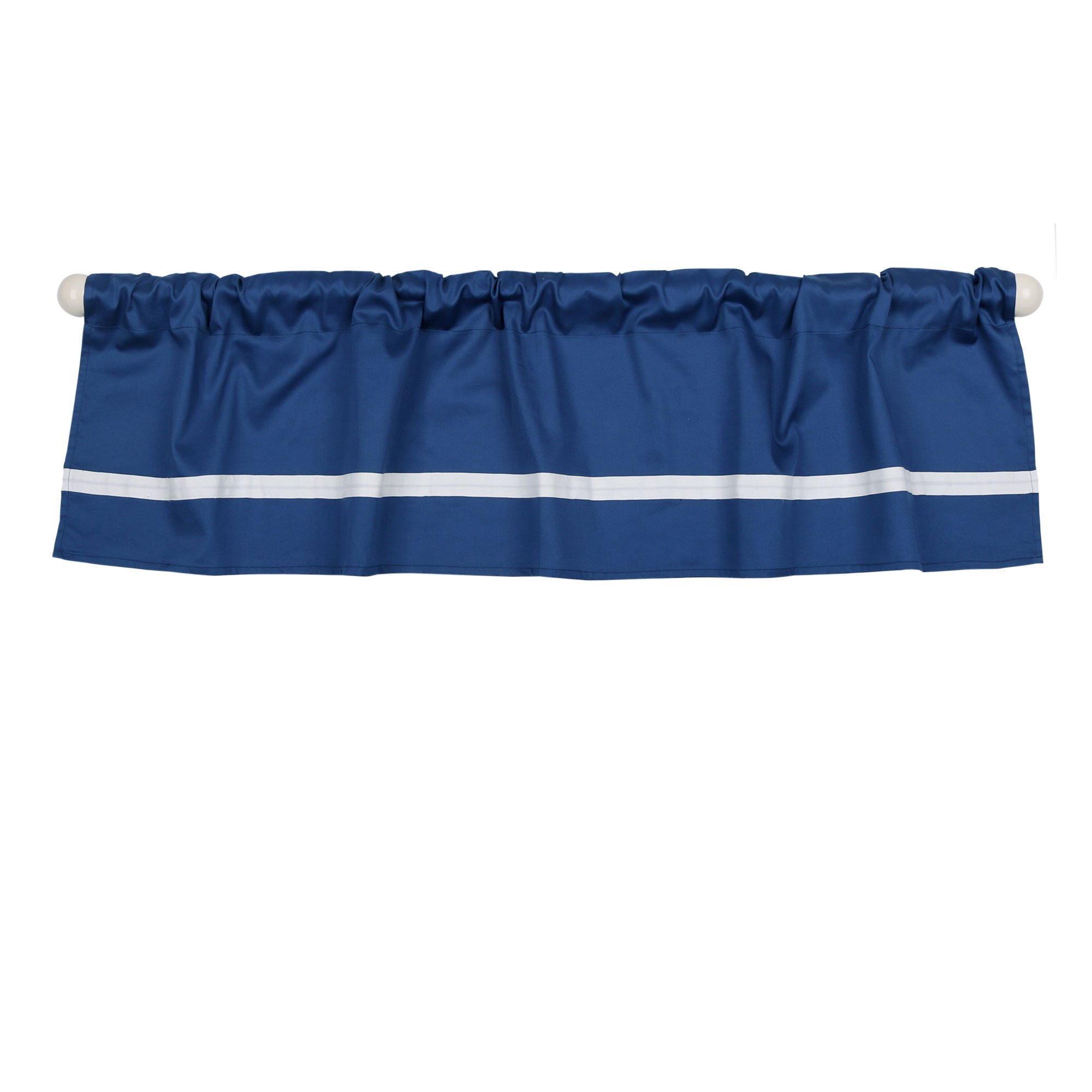 Navy Blue Tailored Window Valance by The Peanut Shell - 100% Cotton Sateen