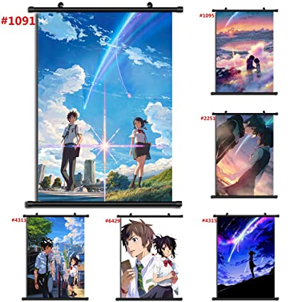 4313 Kimi no Na wa Your Name Anime Manga wall Poster Scroll