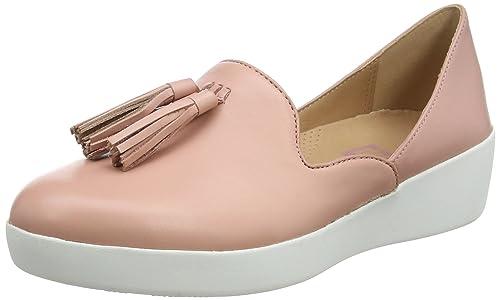 Fitflop Tassel Superskate Dorsay Loafers, Mocasines para Mujer, Rosa (Dusky Pink