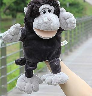 YOIL Burattini da dito per bambini Burattini animali a mano Giocattoli educativi per bambini (Orangutan)