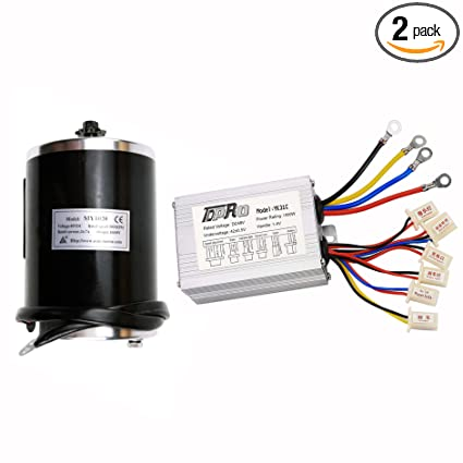 TDPRO 48v 1000w Brushed Speed Motor and Controller Set for Electric Scooter  Go Kart Bicycle e Bike Tricycle Moped