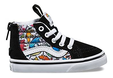 83eda5e967 Amazon.com  Vans Sk8 HI Zip Toddlers 5.5 Boys Girls Dallas Clayton ...