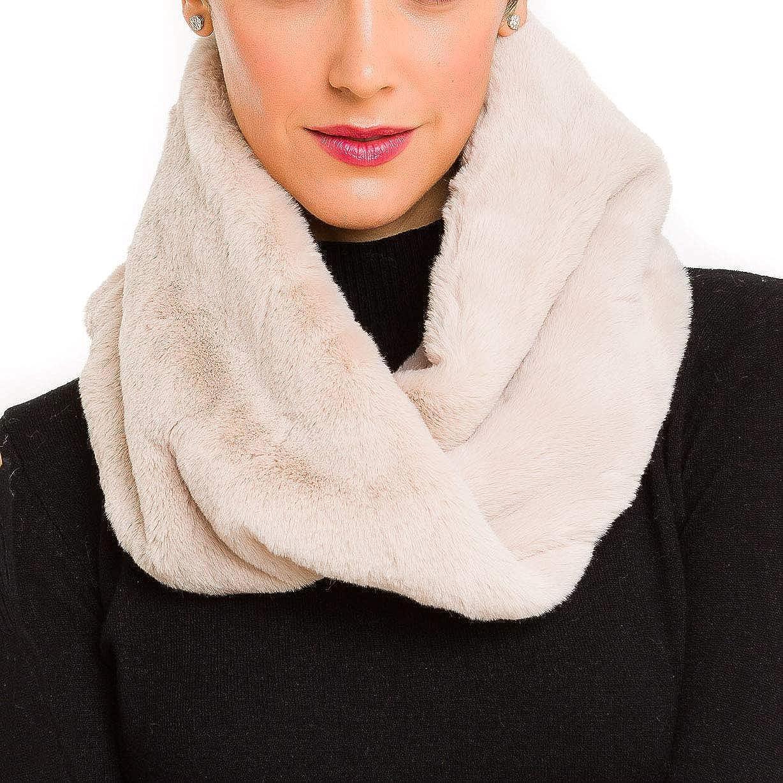 Fur Collar Scarf for Women Faux Fur Scarves Neck Shrug for Winter Coat Dress