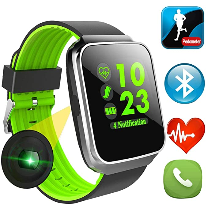 woqoo sport fitness tracker smart watch with heart rate blood pressure monitor for men women color