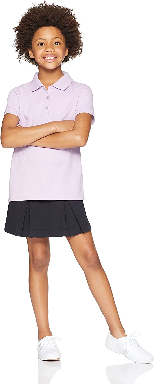 Essentials Girls Short-Sleeve Uniform Interlock Polo Bambina