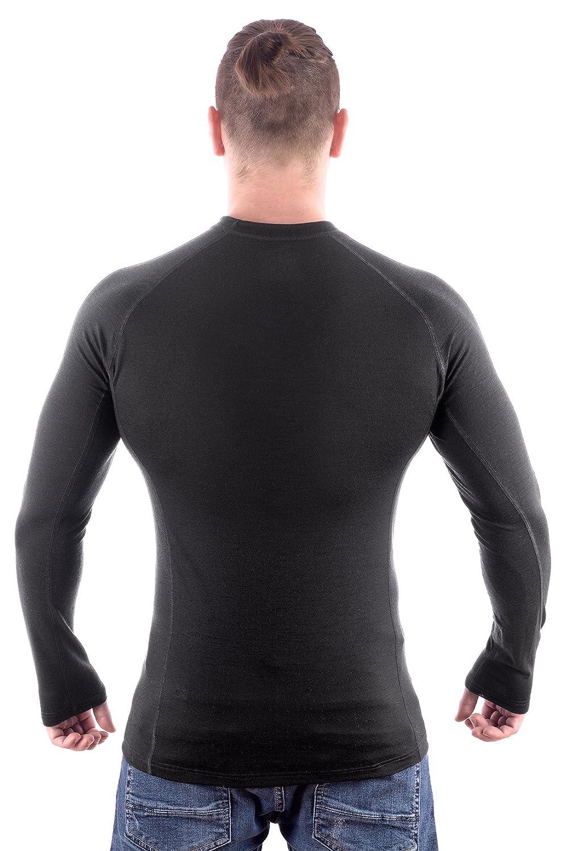 MarkFit Herren 100/% Merino Wolle Langarm Shirt Dachstein Hochwertig