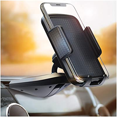 BESTRIX Cell Phone Holder for Car , CD Slot Car Phone Holder, Hands Free Car Mount with Strong Grip Universal for iPhone, 11/11Pro/Xs MAX/XR/XS/X/8/7/6 Plus, Galaxy S10/S10+/S10e/S9/S9+/N9/S8 Pixel,LG [5Bkhe0805013]