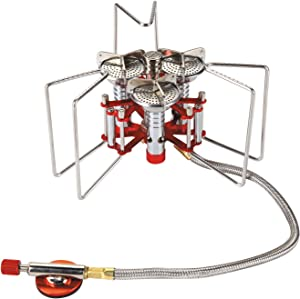Bulin 5800W Ultralight Backpacking Camping Stove,Windproof Camping Gas Stove,Portable Mini Camp Stove Hiking Stoves Lightweight Outdoor Camping Stoves Portable Propane Burner, Support Up to 25KG