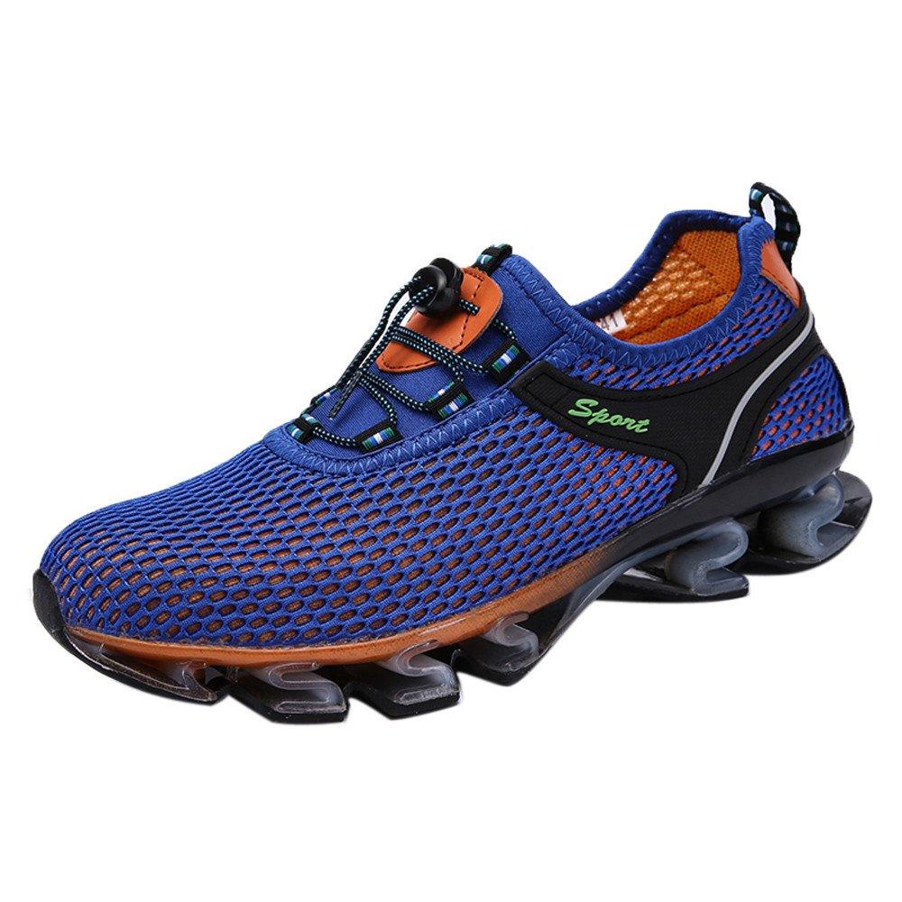 Sneaker For Mens,Clearance Sale!!Farjing Running Light Mesh Athletic Walking Sneaker Slip On Outdoor Sport Shoes(US:9.5,Blue)