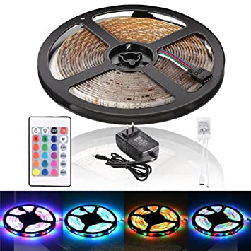 Amazon litake led light strip waterproof 12 volt 164ft5m rgb litake led light strip waterproof 12 volt 164ft5m rgb led strip light aloadofball
