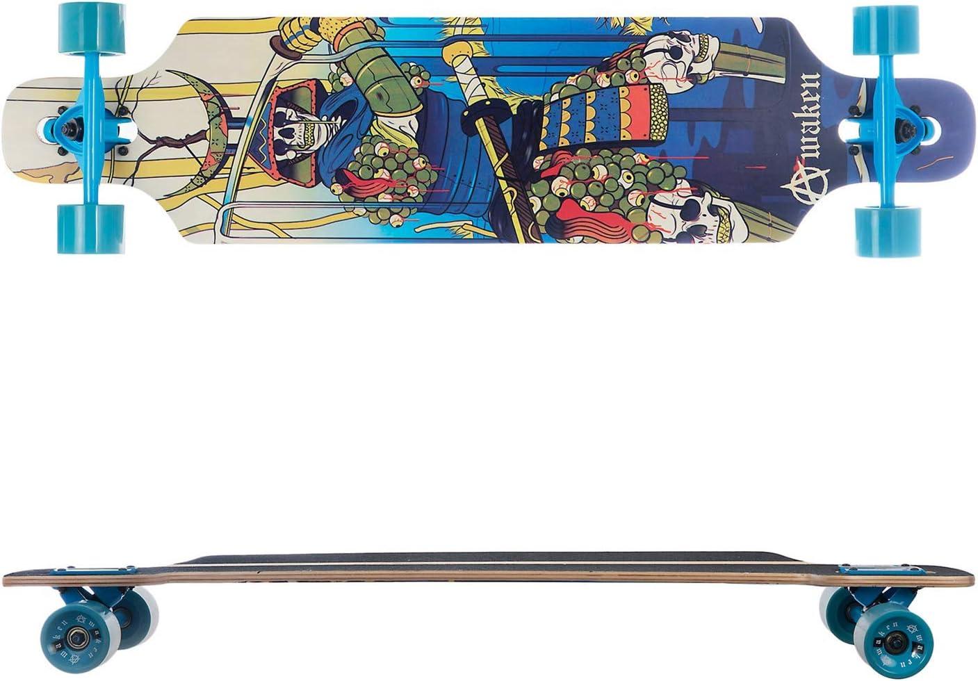 monopat/ín 40 Pulgadas de Patinaje Longboard Skateboard Completo para Carving Downhill Cruising Freestyle Riding para ni/ños Adultos