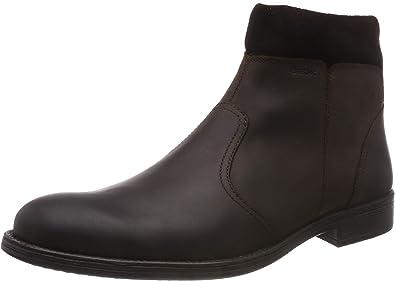 musicas Decir a un lado Seguro  Amazon.com | Geox Respira Mens Jaylon Leather Coated Ankle Boots Brown 8  Medium (D) | Boots