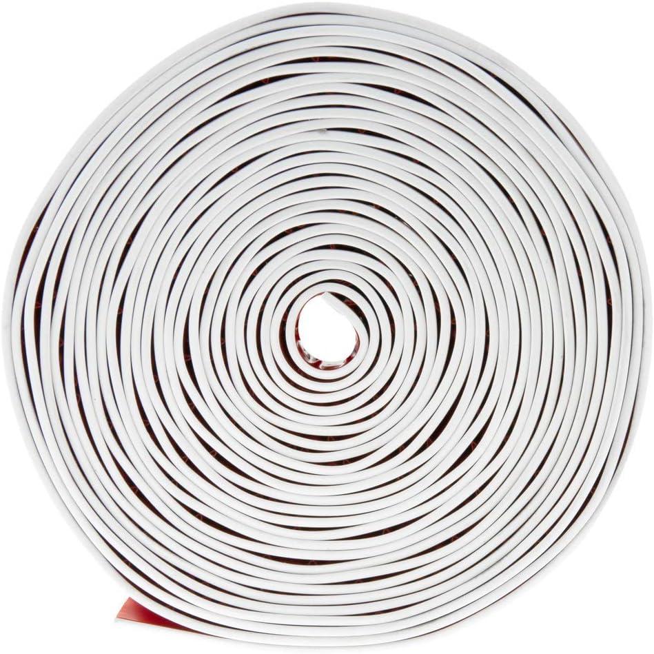 Longitud 5 m Blanco Rodapi/é Flexible Autoadhesivo 70 x 20 mm PrimeMatik