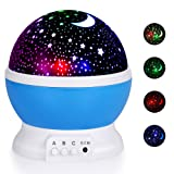 Amazon Price History for:Boomile Baby Night Light, Star Light Rotating Projector, 4 LED Bulbs 8 Modes, Color Changing With USB Cable, Unique Gifts for Kids