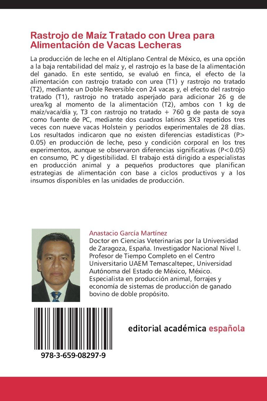 Rastrojo de Maíz Tratado con Urea para Alimentación de Vacas Lecheras: Importancia en unidades de producción en pequeña escala (Spanish Edition): Anastacio ...
