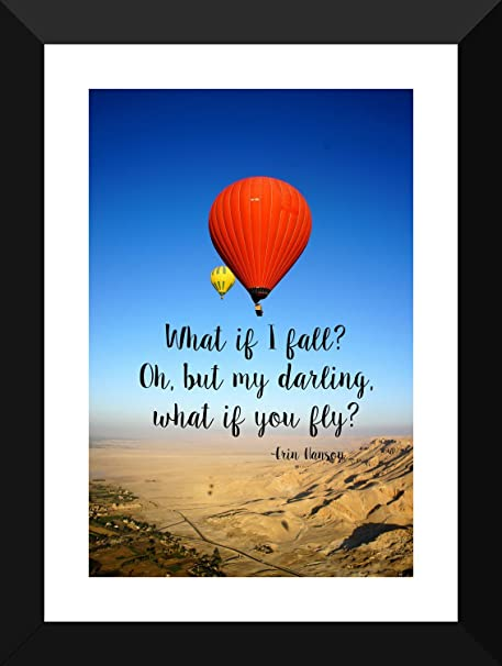 Wanderlust Poster Travel Inspirational Quote What If You Fly