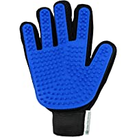Pet Grooming Glove by Urban Pets Universe - Rubber Knot Remover for Shedding Animals - Effectively Detangles Matted Fur off your Furry Friend - Professional Brush Tool Works with Curly and Straight Hair