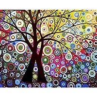 shiliqiang pittura a olio digitale non encadrée di Sun Tree, Pittura a olio, pittura fai da te per numeri su tela
