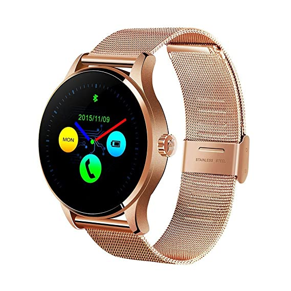 Amazon.com: Efanr K88H Bluetooth Smart Watch with Stainless ...
