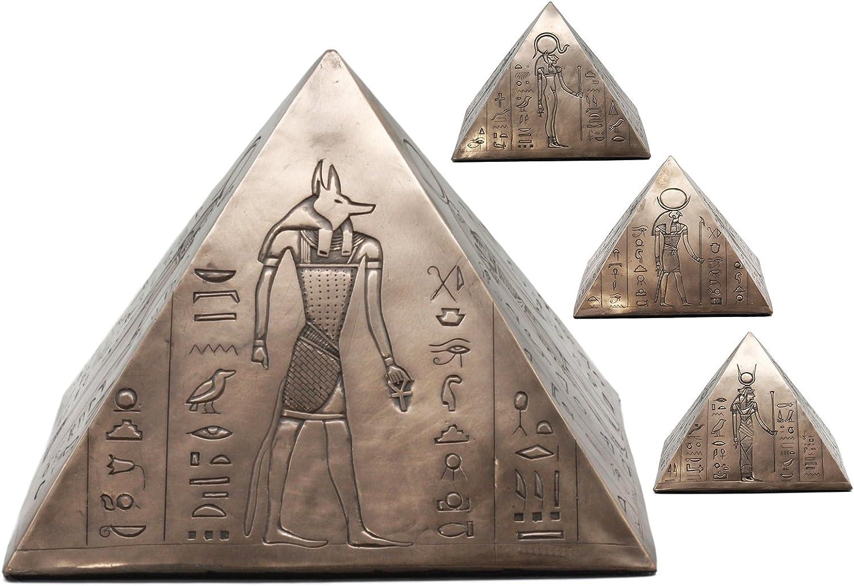 Ancient Egyptian Gods Pyramid Jewelry Box Keepsake Anubis Horus Isis Decorative