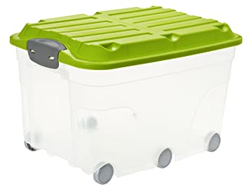 Hervorragend Rotho 1766605519 Aufbewahrungs-Kiste Roller 6 mit Deckel und 6  JZ77