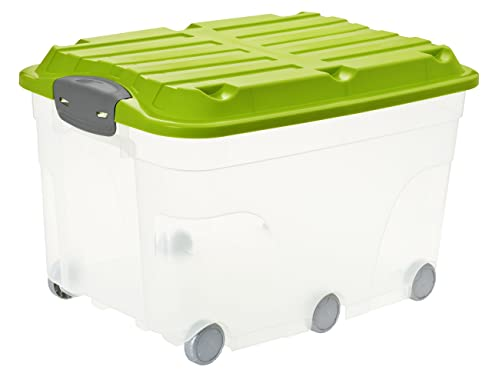 Rollbox kunststoff  Rotho 1766605519 Aufbewahrungs-Kiste Roller 6 mit Deckel und 6 ...