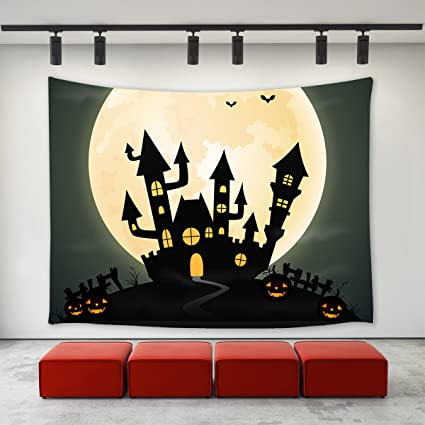 Amazon.com: LBKT Gothic Decor Tapestries Wall Hanging for Halloween ...