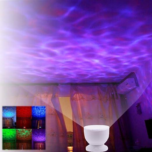 Redlution Luz nocturna LED Océano Proyector Lámpara nocturna ...