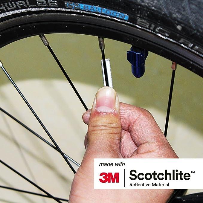 Sourcingmap 36Pcs Plastic Bike Bicycle Wheel Spoke Reflector Reflective Mount Clip Tube