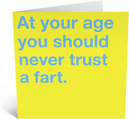 Trust A Fart Funny Birthday Card for Him Central 23 Cheeky Mum Birthday Card Dad Birthday Card Comes with Fun Stickers