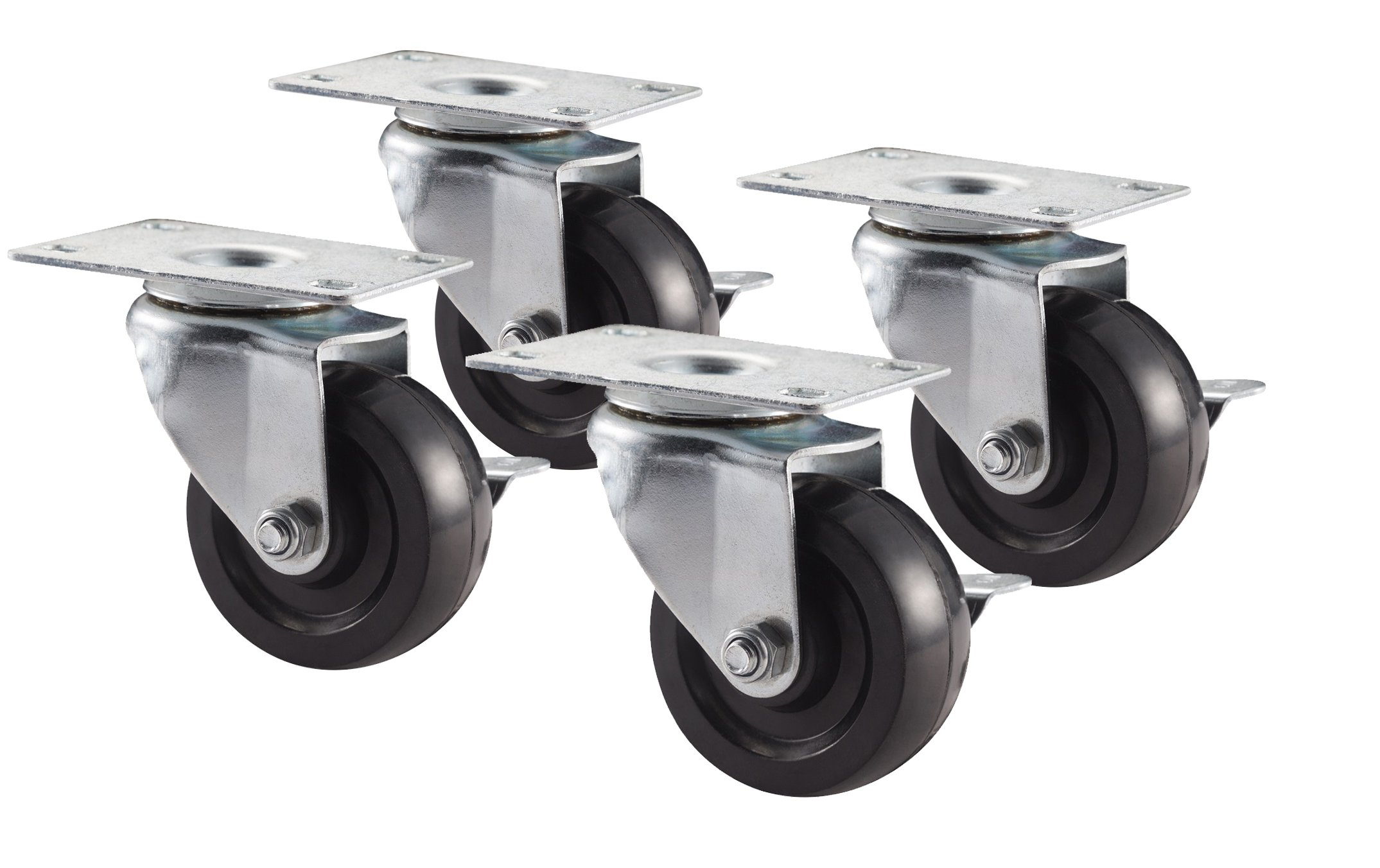 NewAge Products 31404 3-Inch Caster Kit, 4-Pack