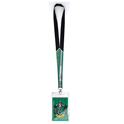 Harry Potter Unisex-Adult's Slytherin Lanyard, Green, One Size: Clothing