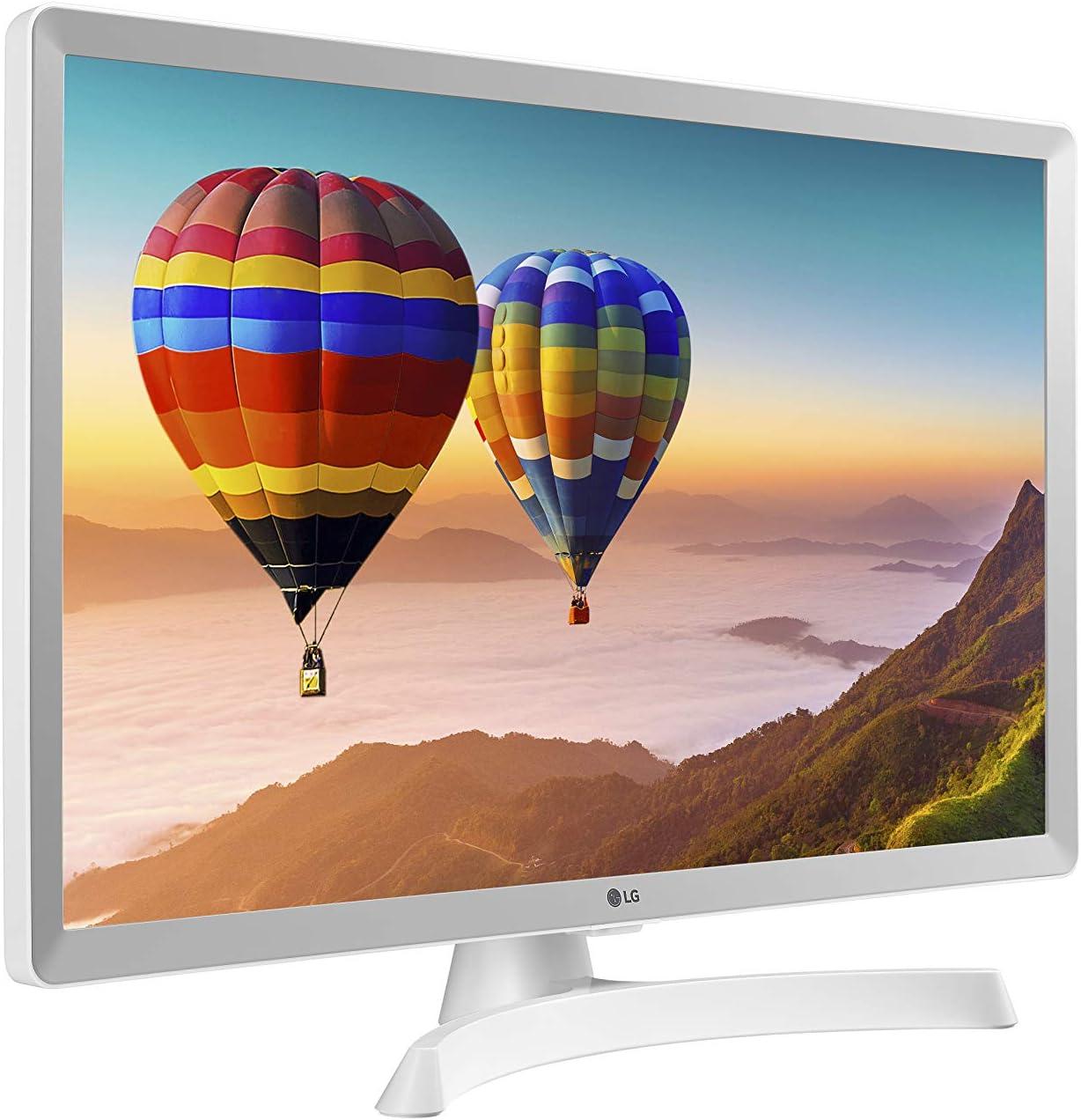 con Pantalla LED HD 1366 x 768, 16:9, DVB-T2//C//S2, WiFi, 5 ms, 250 CD//m2, 5 M:1, Miracast, 10 W, 1 x HDMI 1.3, 1 x USB 2.0 28 LG 28TN515S- WZ Monitor Smart TV de 70 cm Color Blanco