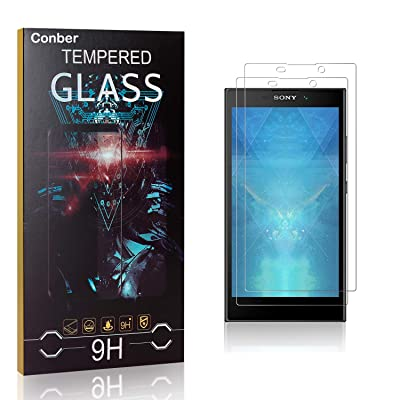Conber Screen Protector for Sony Xperia L2, (2 Pack) 9H Tempered Glass Film Screen Protector for Sony Xperia L2 [Scratch-Resistant][Shatterproof]: Baby