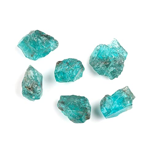 Amazon com: 50cts Raw Neon Apatite Crystals Slices Gemstone, Rough