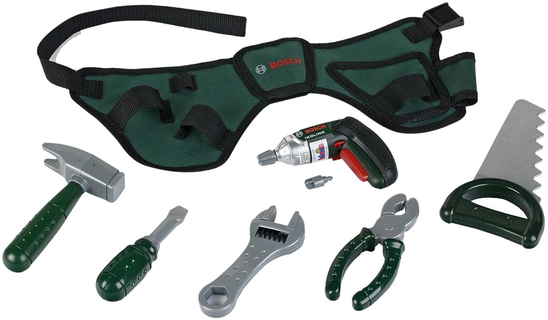 Bosch Werkbank - Bosch Kinderwerkzeug - Bosch Werkzeuggürtel mit Akkuschrauber