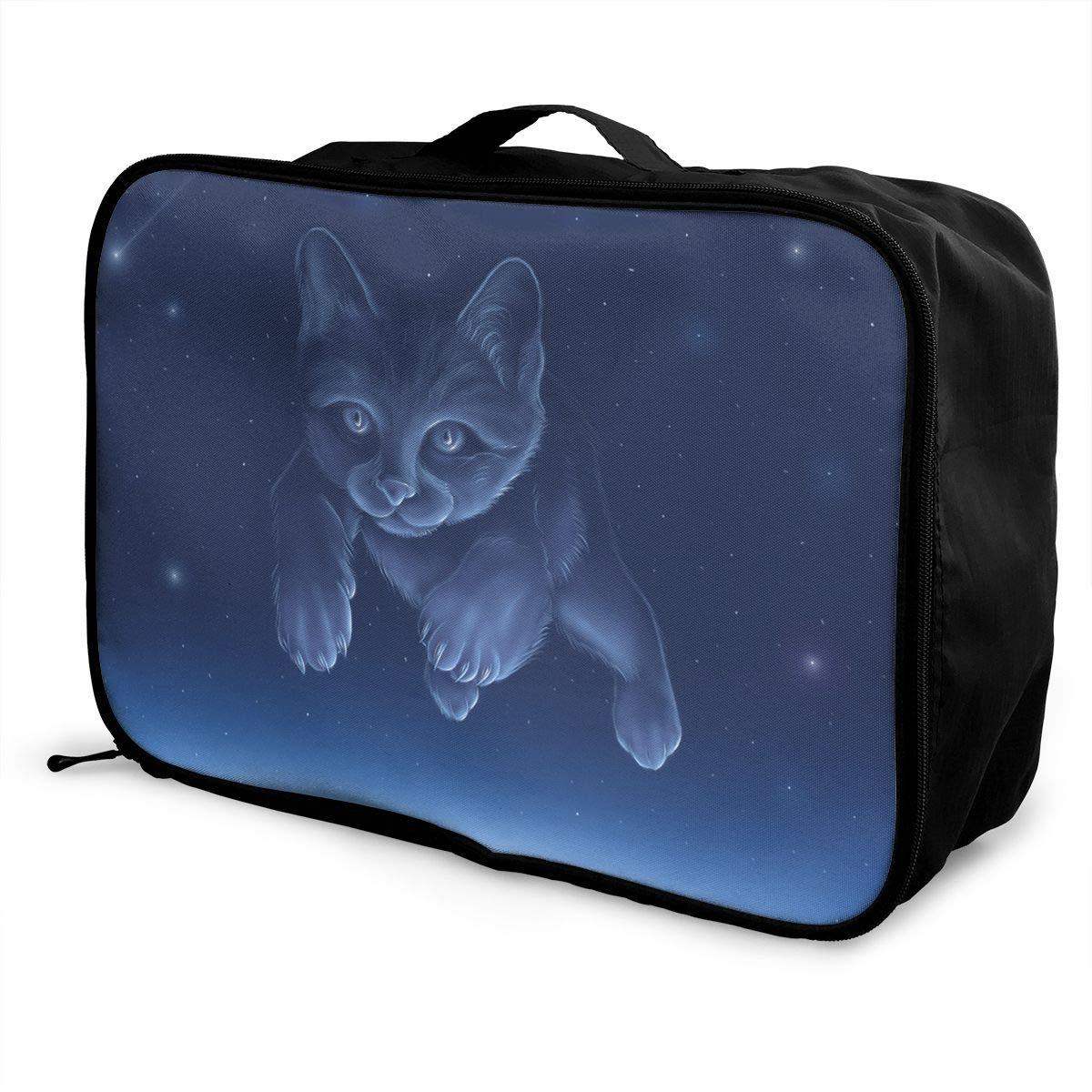 Travel Luggage Duffle Bag Lightweight Portable Handbag Cat Large Capacity Waterproof Foldable Storage Tote