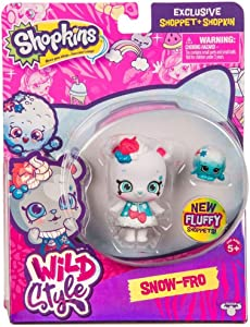 Shopkins Wild Style Snow-Fro Shoppet and Fluffy Snow Ball Exclusive
