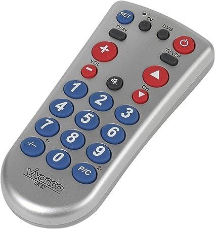 Vivanco - Mando a distancia universal para televisión (teclas ...