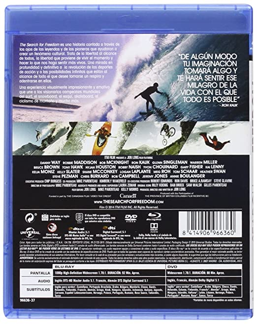 The Search For Freedom (BD Combo) [Blu-ray]: Amazon.es: Danny ...