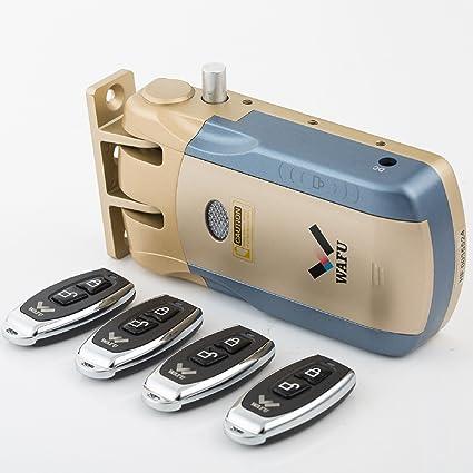 Wafu Keyless Smart Remote cierre de puerta inalámbrica invisibles Ranura para Anti Robo de seguridad para