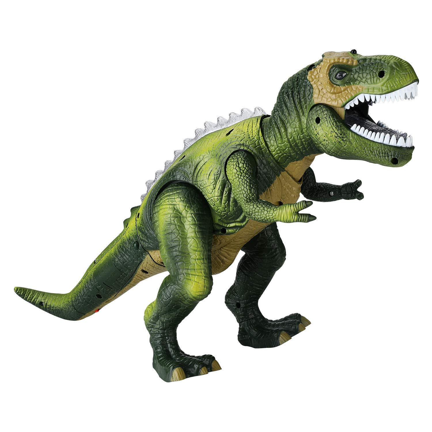 Tuko Light Up Remote Control Dinosaur Toys Jurassic World Walking and Roaring Realistic T-Rex Dinosaur Toys with Glowing Eyes, Walking Movement, Shaking Head for Toddlers Boys Girls by Tuko (Image #2)